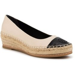 Espadryle TORY BURCH - Color Block 50mm Espadrille 65104 Cream/Perfect Black 113