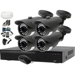 Monitoring Domu Zestaw AHD Rejestrator LV-XVR44N + Kamera 4x LV-AL20MT + akcesoria