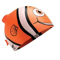TYR Charactyrs Happy Fish Czepek pływacki Dzieci pomarańczowy/biały 2018 Czepki pływackie Przy złożeniu zamówienia do godziny 16 ( od Pon. do Pt., wszystkie metody płatności z wyjątkiem przelewu bankowego), wysyłka odbędzie się tego samego dnia.