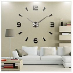Ogromny Zegar Ścienny 3D (regulowana średnica od 70-150cm!!) - w 2 Kolorach do Wyboru.