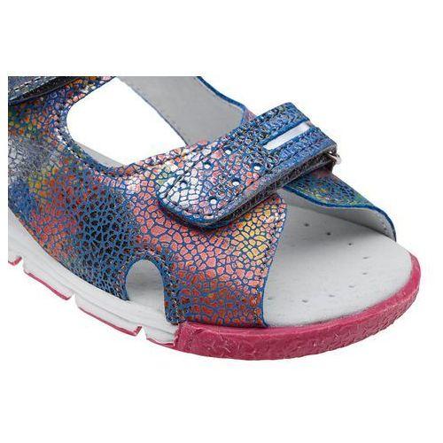 Sandały dziecięce, Sandałki dla dziewczynki KORNECKI 4952 Niebieskie Multikolor