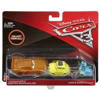Pozostałe samochody i pojazdy dla dzieci, CARS 3 Dwupak Lightning McQueen as Chester Whipplefilter, Luigi & Guido with Cloth Die-Cast Vehicle