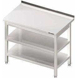 Stół przyścienny z dwoma półkami 1600x600x850 mm | STALGAST, 980066160
