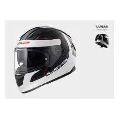 KASK MOTOCYKLOWY KASK LS2 FF320 STREAM LUNAR WHITE BLACK