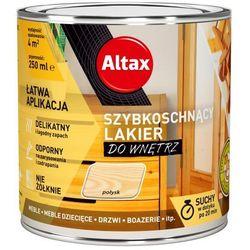 Lakier szybkoschnący Altax bezbarwny połysk 0,25 l