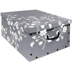 Pudełko ozdobne, prostokątne - szare