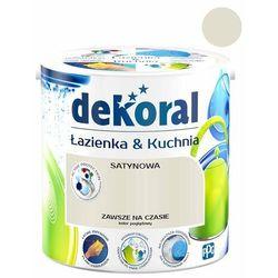 Farba satynowa Dekoral Łazienka i Kuchnia zawsze na czasie 2,5 l
