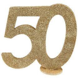 Dekoracja stołu Pięćdziesiątka złota 50-tka - 1 szt.