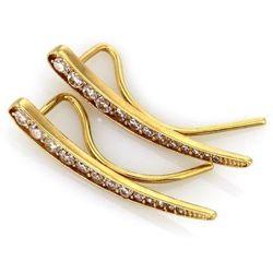Nausznice złote cyrkonie