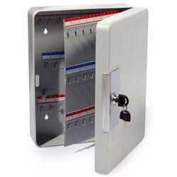 Zawieszana metalowa szafka na 100 kluczy szara z zamkiem - Autoryzowana dystrybucja - Szybka dostawa