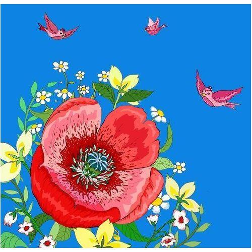 Pozostałe artykuły szkolne, Karnet Swarovski kwadrat CL0607 Kwiaty niebieski