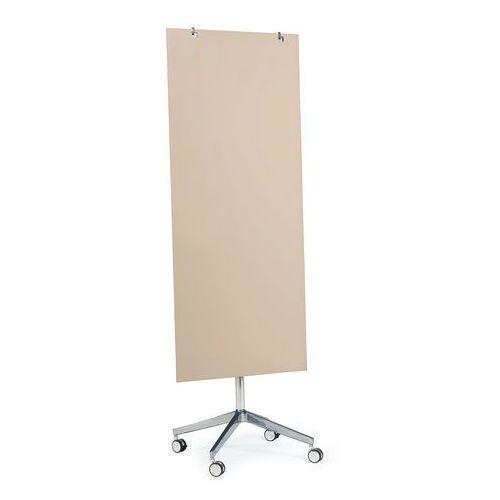 Tablice i flipcharty, Szklana tablica suchościeralna, na kółkach, 650x1575 mm, jasnobrązowy