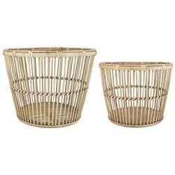 Ib Laursen - Zestaw 2 bambusowych koszy stożkowych