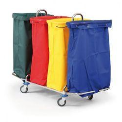 Wózek na bieliznę lub odpady segregowane, 4 worki