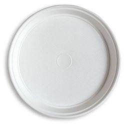 Talerz jednoraz. białe plast 100 szt. śred.220mm - P0510