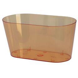 Osłonka na storczyki 26.7 x 13.5 cm plastikowa herbaciana FORM-PLASTIC