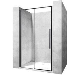 REA Drzwi prysznicowe SOLAR BLACK MAT 130 z powłoką EASY CLEAN