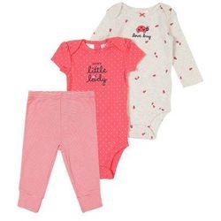 Carter's Zestaw 'Little Character Set F19 LBB Girl Ladybug' różowy pudrowy / biały