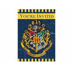Zaproszenia urodzinowe Harry Potter - 8 szt.