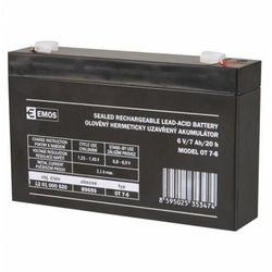 Akumulator ołowiowy AGM 6V 7Ah F4,7 B9659