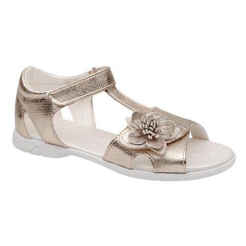 Sandały dziecięce, Sandałki dla dziewczynki KORNECKI 4323 Złote Brokat - Złoty