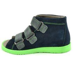 Dziecięce buty profilaktyczne Dawid 1042 - Zielony   Granatowy