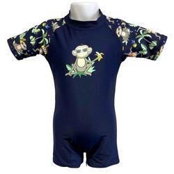 Strój kąpielowy kombinezon dzieci 120cm filtr UV50 - Navy Jungle \ 120cm