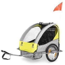 Przyczepka rowerowa przyczepa CE 2 osobowa Żółta