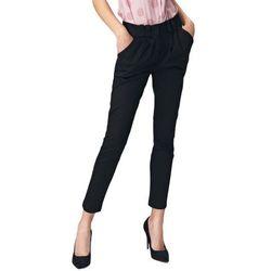 Dopasowane czarne spodnie damskie - SD40