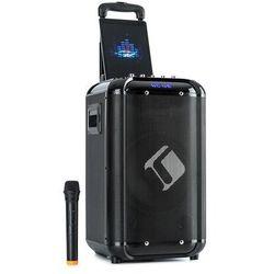 Auna Moving 100, zestaw nagłośnieniowy, 10-calowy głośnik niskotonowy, 50/150 W, mikrofon UHF, USB, SD, BT, AUX, przenośny