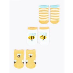 Skarpety dziewczęce pszczółki 3PAK 3-6