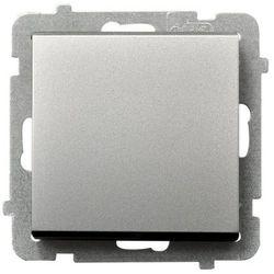 Łącznik jednobiegunowy SONATA Ospel 16AX srebro mat IP20 ŁP-1R/m/38