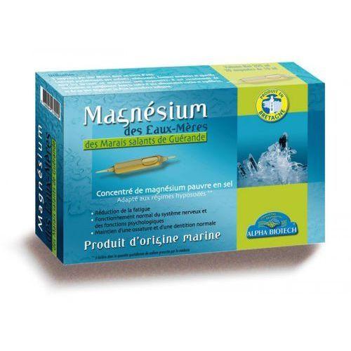 Witaminy i minerały, Naturalny Magnez Macierzysty w ampułkach 20 szt. ALPHA BIOTECH