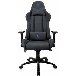 Arozzi fotel gamingowy na kółkach Verona Signature Soft Fabric, czarny/niebieski (VERONA-SIG-SFB-BL)