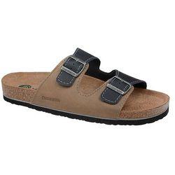Klapki buty Dr BRINKMANN 600308-8 Multi - Beżowy   Granatowy   Multikolor