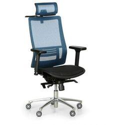 Krzesło biurowe Atol, niebieskie