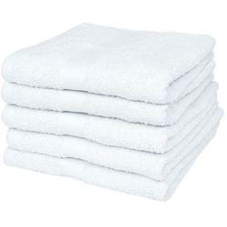 vidaXL Ręczniki kąpielowe Biała Bawełna 100% 500 gsm 100 x 150 cm x5