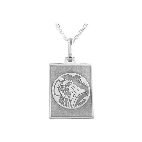 Pozostała biżuteria, Medalik srebrny z wizerunkiem chrystusa med-6-2d