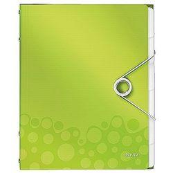 Teczka segregująca Leitz WOW 6 przekładek metaliczna zielona 46330064