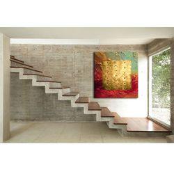 """Zachwycający kształtem, kolorem i teksturą abstrakcyjny obraz """"barwy i metal"""" rabat 15%"""