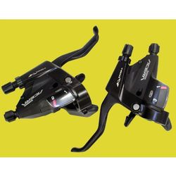 STM390L_KPL3_9 Klamko-manetki Shimano Acera ST-M390 czarne 3 x 9 przełożeń komplet