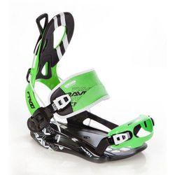 Wiązania snowboardowe Raven FT 400 (black / green) 2019