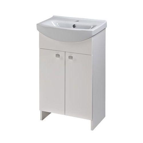 Szafki łazienkowe, CERSANIT SATI zestaw: szafka + umywalka CERSANIA 50 cm, kolor BIAŁY POŁYSK S567-002-DSM