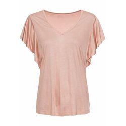 Shirt z rękawami z falbanami bonprix Shirt r.falb stary jasnoróżowy