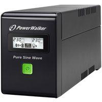 Zasilacze UPS, UPS POWER WALKER LINE-I 800VA 3xIEC RJ11/45 IN/OUT USB LCD