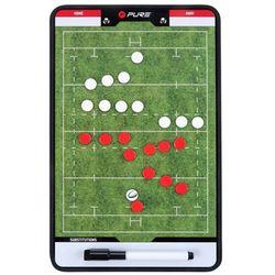 Pure2Improve Dwustronna tablica trenerska do rugby, 35x22cm P2I100670