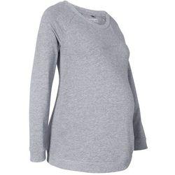 Shirt ciążowy i do karmienia piersią, długi rękaw bonprix szary melanż