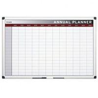 Tablice i flipcharty, Planer, Tablica suchościeralno-magnetyczna do planowania rocznego, 900x600 mm