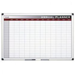 Planer, Tablica suchościeralno-magnetyczna do planowania rocznego, 900x600 mm