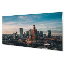 Panel Szklany Warszawa Wieżowce panorama wschód słońca